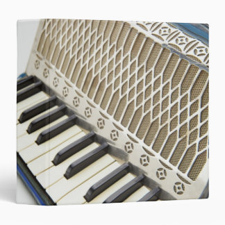 Antique Accordion Keyboard 3 Ring Binder