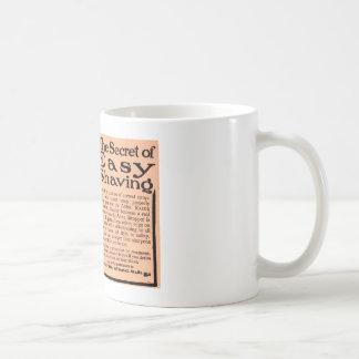 Antique advert 1912 The secret of easy shaving Coffee Mug