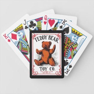Antique Advertising Teddy Bear Toy Playing Cards