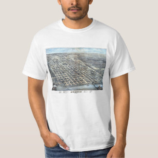 Antique Aerial City Map of Austin, Texas, 1873 T-Shirt