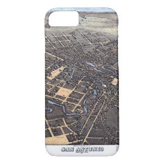 Antique Aerial City Map of San Antonio, Texas 1873 Case-Mate iPhone Case
