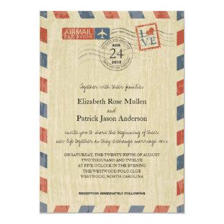 Antique Airmail Wedding Invitation