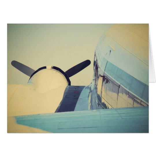 Antique Airplane Big Greeting Card