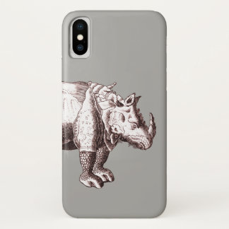 Antique Albrecht Durer Engraving of Rhinoceros Case-Mate iPhone Case