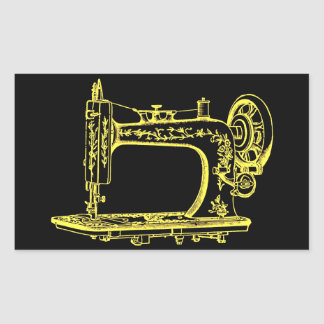 Antique Altered Light Design Sewing Machine Sticker