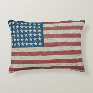 Antique American Flag 48 States Pillow
