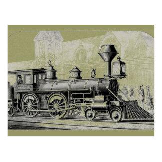 Antique American Locomotive Steam Engine Postcard
