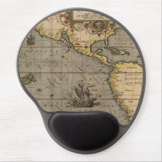 Antique Americas Map Gel Mousepad
