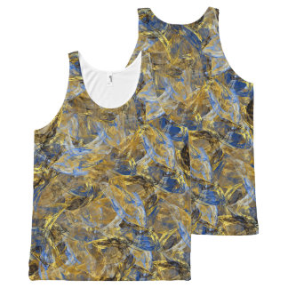 Antique Anciently Gold Blue Vintage Design All-Over-Print Tank Top