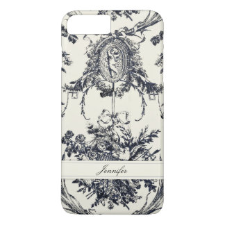 Antique Angel Customizable _Black iPhone 8 Plus/7 Plus Case