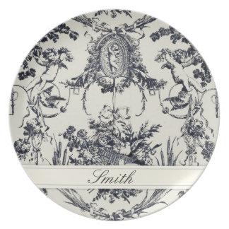 Antique Angel Customizable Plate_Black Plate