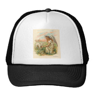 Antique Angel Feeding A Lamb Trucker Hat