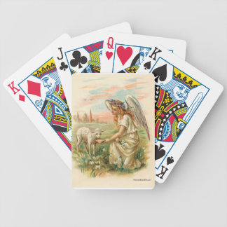 Antique Angel With Lamb Bicycle Playing Cards