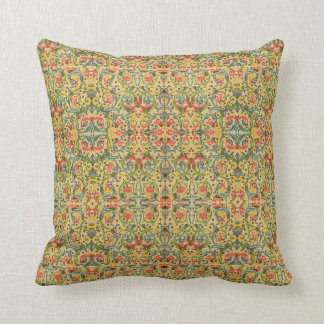 Antique Arabesque Throw Pillow