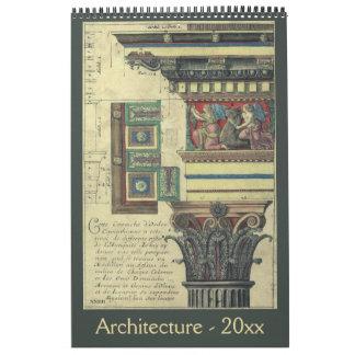 Antique Architecture from the Renaissance Era Calendar