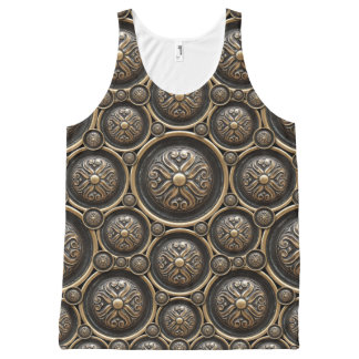 Antique Armor Pattern All-Over Print Tank Top
