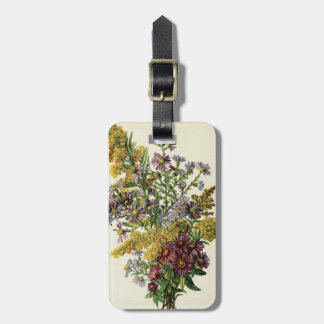 Antique Asters & Goldenrod Floral Rustic Bouquet Luggage Tag