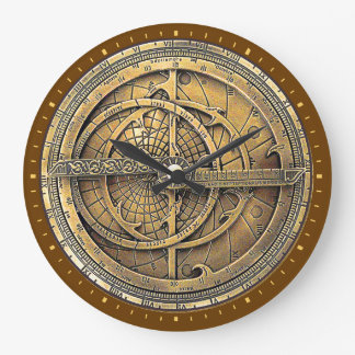 Antique Astrolabe 2 Large Clock