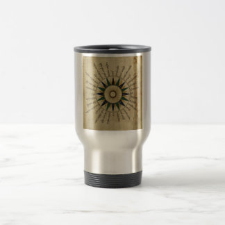 Antique Atlas Compass Rose Travel Mug