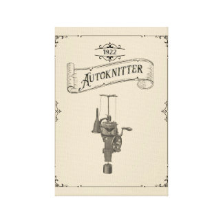 Antique Autoknitter Circular Sockknitting Machine Canvas Print
