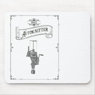 Antique Autoknitter Circular Sockknitting Machine Mouse Pad
