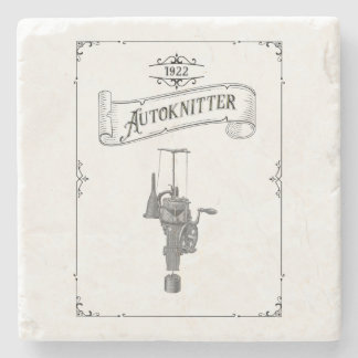 Antique Autoknitter Circular Sockknitting Machine Stone Coaster