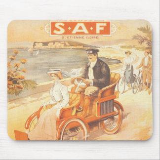 Antique automobile car French advertisement Mouse Pad