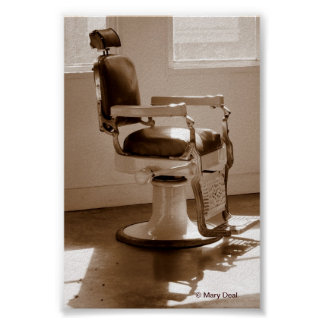 Antique Barber Chair Poster