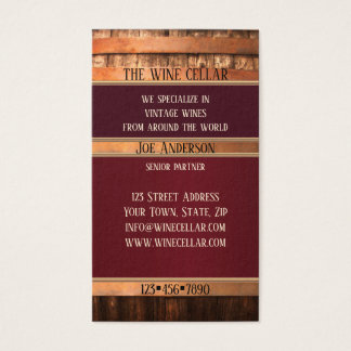 Antique Barrel Rustic Wine Seller Business Card
