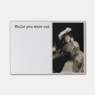 Antique Beauty Telephone Memo Post-it Notes
