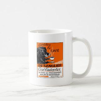 Antique Belgian Coffee Boar Advertising Coffee Mug