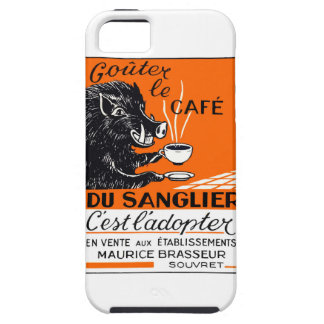 Antique Belgian Coffee Boar Advertising iPhone 5 Covers