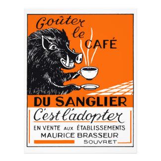 Antique Belgian Coffee Boar Advertising Letterhead