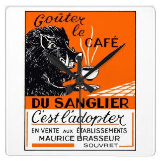 Antique Belgian Coffee Boar Advertising Wall Clocks