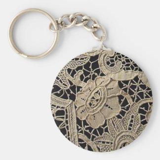 Antique Belgian Zele Lace Keychain