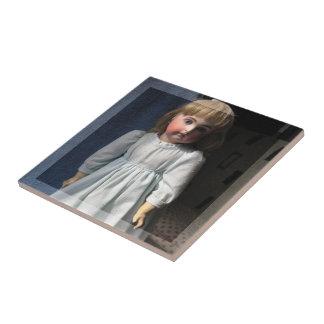 Antique Belton Doll Ceramic Tile or Trivet