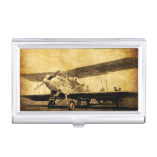 Antique Bi-Plane Business Card Holder