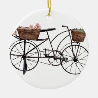 Antique bicycle ceramic ornament