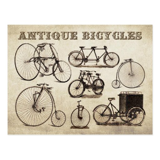 Antique Bicycles (Velocipedes) Post Cards