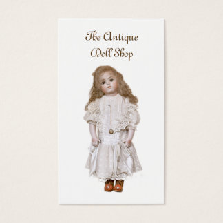 Antique bisque doll reproduction business card