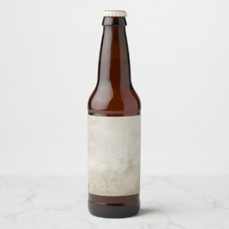 Antique Blank Grungy Aged Rustic Stained Paper Beer Bottle Label