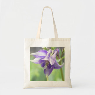 Antique Blue Aquilegia Blossom Tote Bag