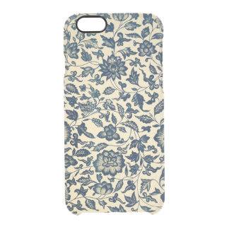 Antique Blue China Pattern Clear Clear iPhone 6/6S Case