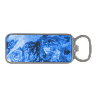 Antique Blue Rose Bottle Opener