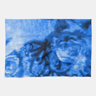 Antique Blue Rose Kitchen Towel