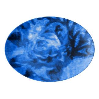 Antique Blue Rose Platter