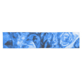Antique Blue Rose Table Runner