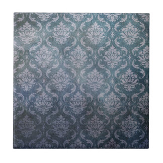 Antique blue wallpaper pattern tile