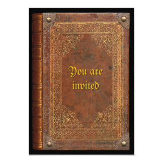 "Antique Book 5"" X 7"" Invitation Card"