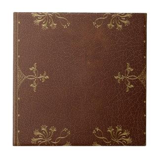antique book binding tile